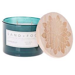 Sand + Fog® Limoncello 12 oz. Carved Lid Jar Candle with Flower Design