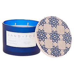 Sand + Fog® Midnight Blue Citrus12 oz. Painted Lid Jar Candle with Blue Tile Design