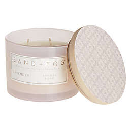 Sand + Fog® Lavender 12 oz. Painted-Lid Jar Candle with Tile Pattern Design
