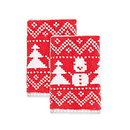 Winter Wonderland Fairisle Snowman Hand Towels (Set of 2)