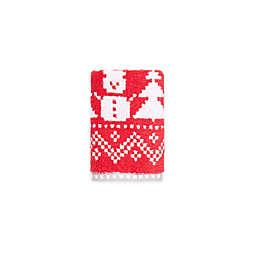 Winter Wonderland Fairisle Snowman Fingertip Towel