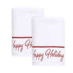 Winter Wonderland Happy Holiday Hand Towels (Set of 2)