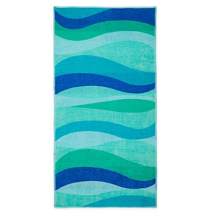 Alternate image 1 for Destination Summer Wave Stripe Beach Towel
