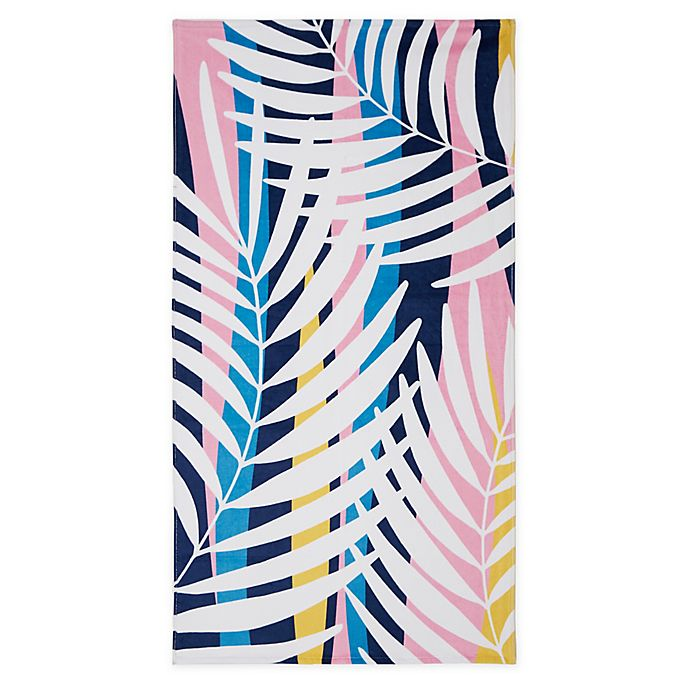 Alternate image 1 for Destination Summer Palm Wave Beach Towel