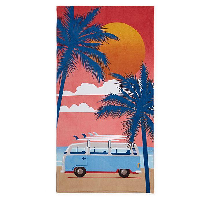 Alternate image 1 for Destination Summer Sunset Surf Beach Towel