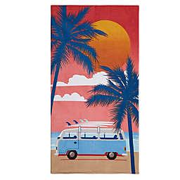 Destination Summer Sunset Surf Beach Towel