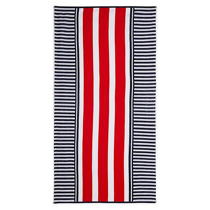 Alternate image 1 for Destination Summer Cape Stripe Beach Towel
