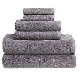 Clean Start 6-Piece Solid Towel Set in Grey