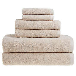 Clean Start 6-Piece Solid Towel Set in Beige