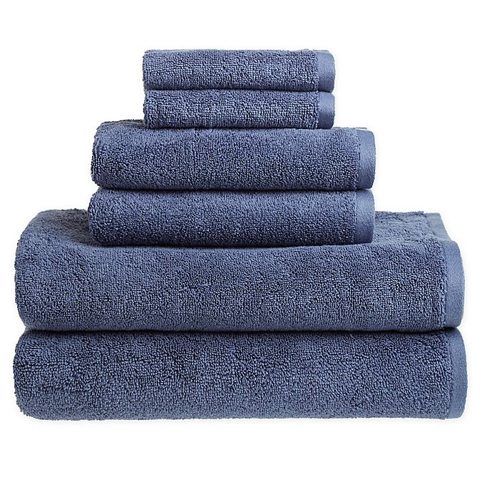 Alternate image 1 for Clean Start 6-Piece Solid Towel Set