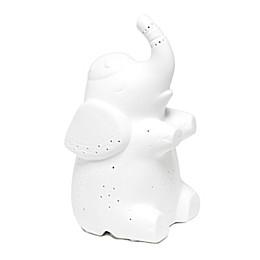 Porcelain Elephant Table Lamp in White