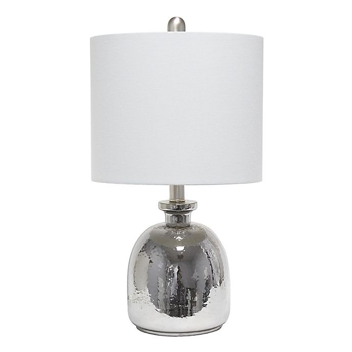 Alternate image 1 for Mercury Table Lamp with Linen Shade