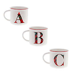 Bee & Willow™ Home Plaid Monogram Letter Mug