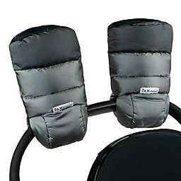 7AM Enfant Warmmuff Stroller Gloves with Micro Fleece Lining in Metallic Grey/Metallic Charcoal