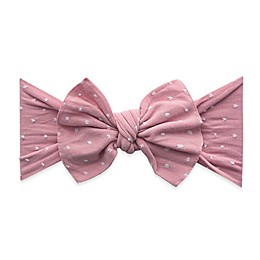 Baby Bling Patterned Shabby Knot Headband in Mauve