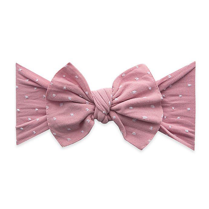 Alternate image 1 for Baby Bling Patterned Shabby Knot Headband in Mauve