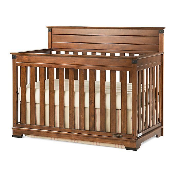 Alternate image 1 for Child Craft™ Redmond 4-in-1 Convertible Crib in Cherry