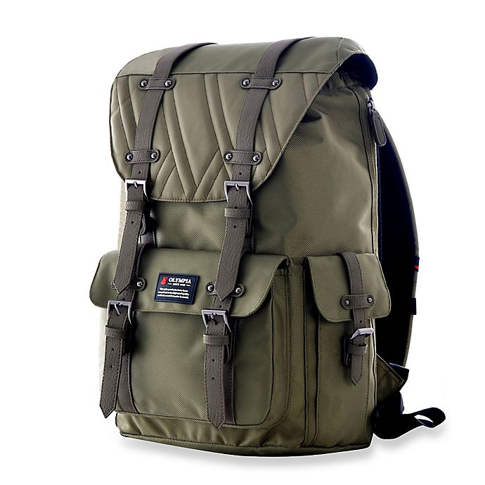 Alternate image 1 for Olympia® Hopkins 18-Inch Backpack in Olive