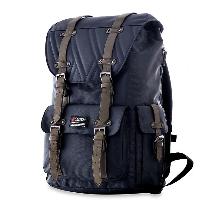 Alternate image 1 for Olympia® Hopkins 18-Inch Backpack in Navy/Black