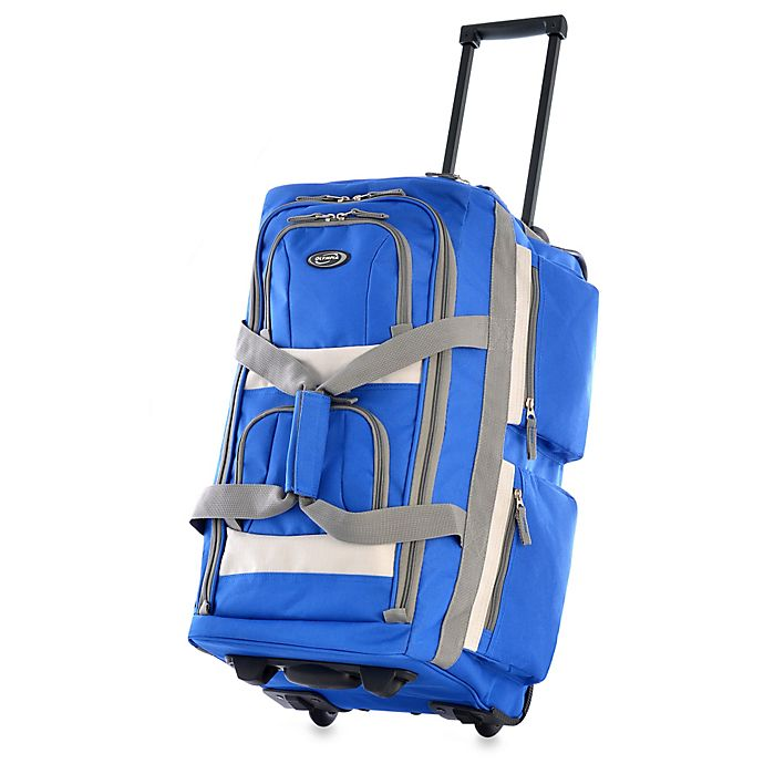 Alternate image 1 for Olympia® 22-Inch 8-Pocket Rolling Duffle in Royal Blue