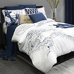 Alamode Home Shelburne Duvet Cover in Blue/White