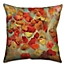 Part of the Floral Square Throw Pillow in Red/Yellow