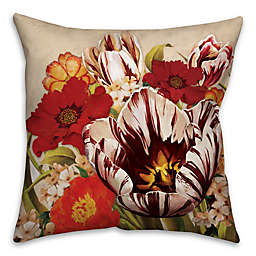 Floral Bouquet Square Throw Pillow