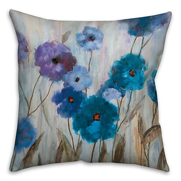 Alternate image 1 for Painterly Florals 18-Inch Square Throw Pillow