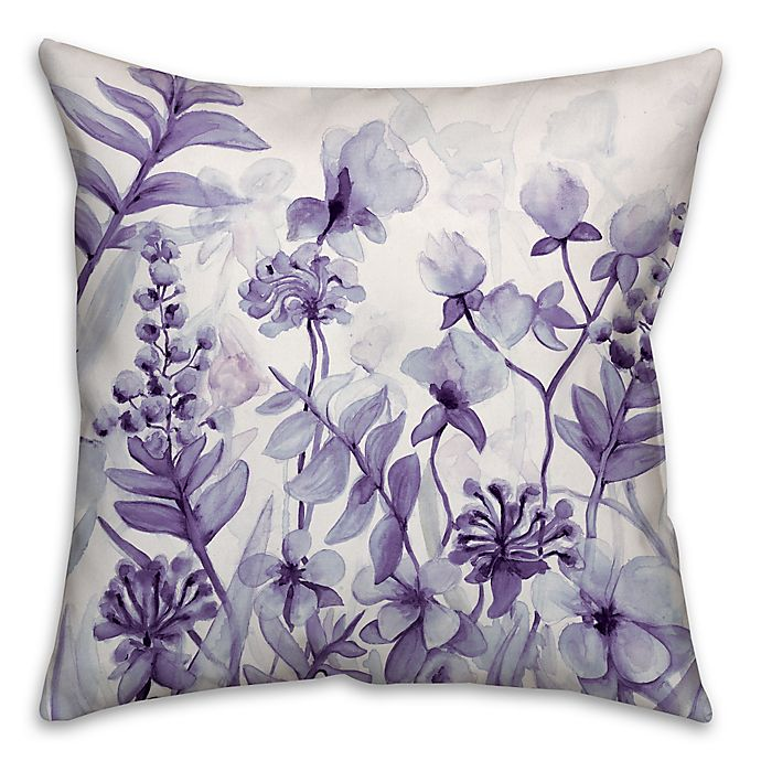 Alternate image 1 for Flower Dream 18-Inch Square Throw Pillow in Purple