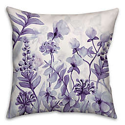 Flower Dream 16-Inch Square Throw Pillow in Purple