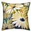 Part of the Daisies Square Throw Pillow in Yellow