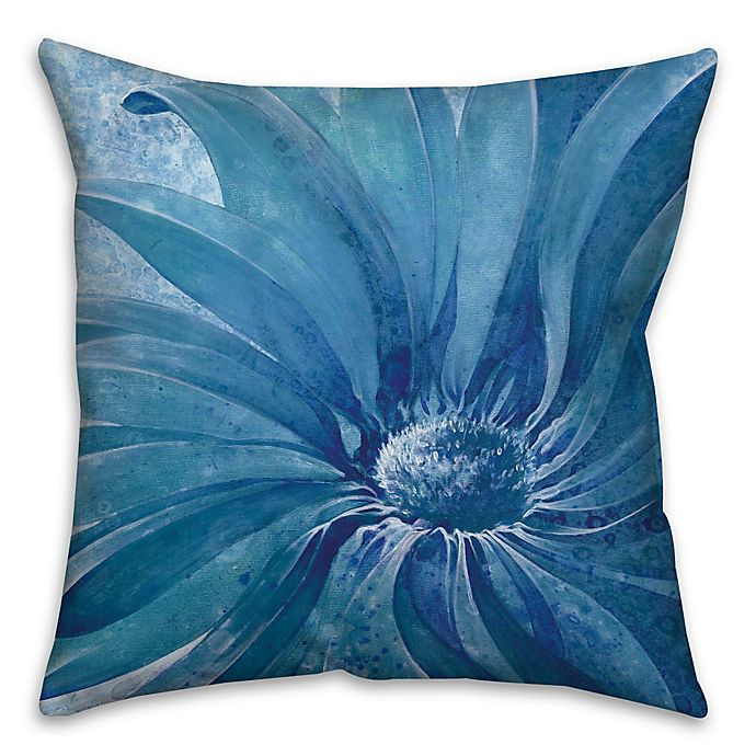 Alternate image 1 for Close Up 18-Inch Square Throw Pillow in Blue