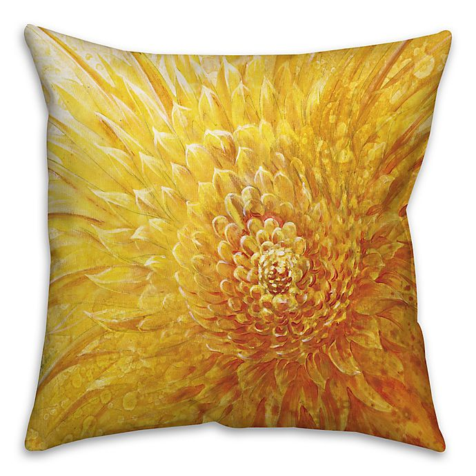 Alternate image 1 for Close Up 16-Inch Square Throw Pillow in Yellow
