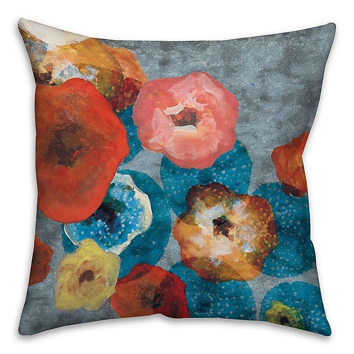 Alternate image 1 for Party Flowers 18-Inch Square Throw Pillow
