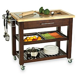 Chris & Chris Pro Chef 40-Inch Kitchen Rolling Work Station in Espresso