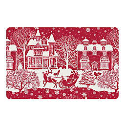 The Softer Side by Weather Guard™ Scenic Santa Sleigh Kitchen Mat in Red/White