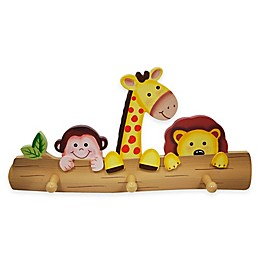 Teamson Fantasy Fields Sunny Safari Kids Wooden Coat Hanger