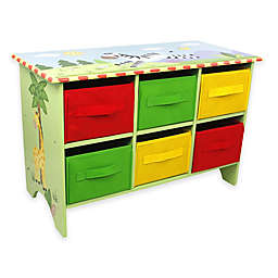 Teamson Fantasy Fields Sunny Safari 6-Cube Storage Organizer