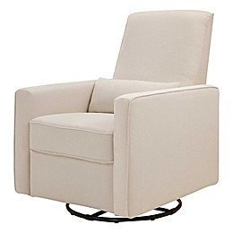 DaVinci Piper All-Purpose Upholstered Glider Recliner in Cream