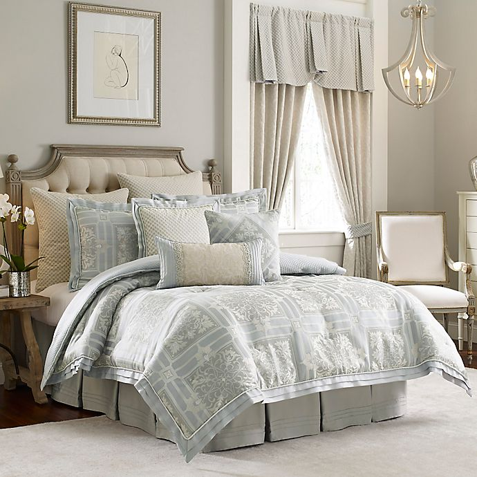 Alternate image 1 for Croscill Couture® Rowling Reversible Comforter Set in Platinum