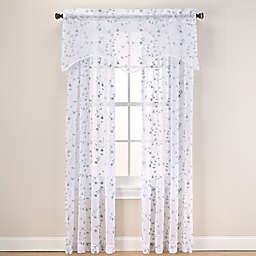 Caspia Sheer Window Curtain Panel and Valance