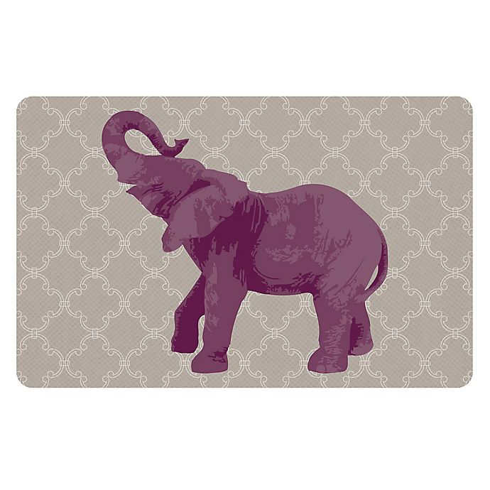 Alternate image 1 for The Softer Side by Weather Guard™ 18-Inch x 27-Inch Elephant I Kitchen Mat