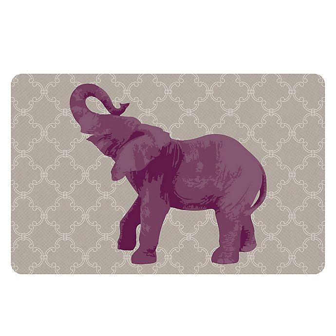 Alternate image 1 for The Softer Side by Weather Guard™ 23-Inch x 36-Inch Elephant I Kitchen Mat