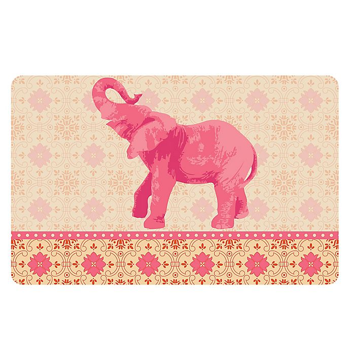 Alternate image 1 for The Softer Side by Weather Guard™ 18-Inch x 27-Inch Elephant 3 Kitchen Mat