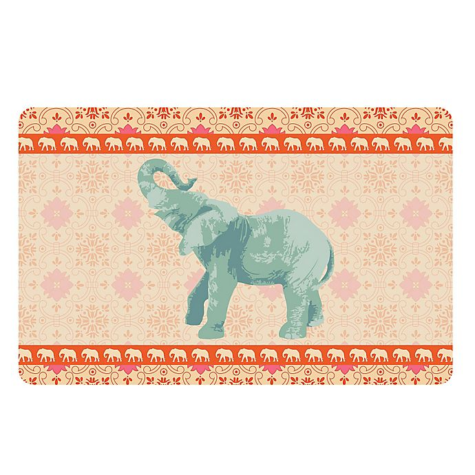 Alternate image 1 for The Softer Side by Weather Guard™ 18-Inch x 27-Inch Elephant 4 Kitchen Mat