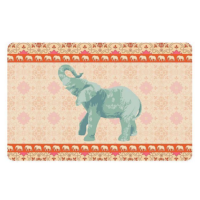 Alternate image 1 for The Softer Side by Weather Guard™ 23-Inch x 36-Inch Elephant 4 Kitchen Mat