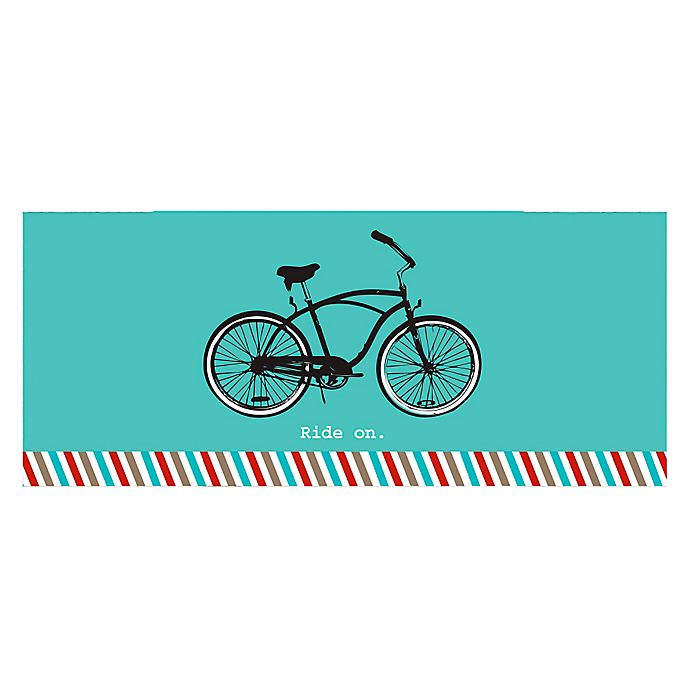 Alternate image 1 for The Softer Side by Weather Guard™ 25-Inch x 60-Inch Retro Bicycle Kitchen Mat