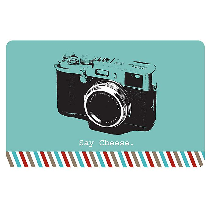 Alternate image 1 for The Softer Side by Weather Guard™ 18-Inch x 27-Inch Retro Camera Kitchen Mat