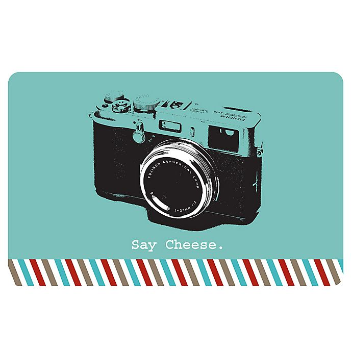 Alternate image 1 for The Softer Side by Weather Guard™ 23-Inch x 36-Inch Retro Camera Kitchen Mat