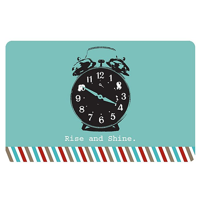 Alternate image 1 for The Softer Side by Weather Guard™ 18-Inch x 27-Inch Retro Clock Kitchen Mat